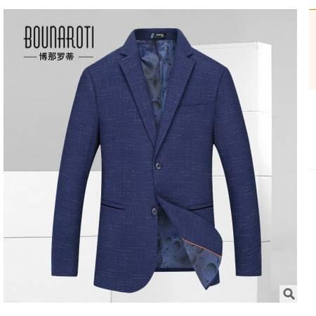 韩版男士西服男潮男装西装男单西装秋季新款修身西装博纳罗蒂包邮