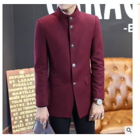 男中长款韩版男装男士毛呢外套秋冬新款男式呢大衣风衣博纳罗蒂包邮
