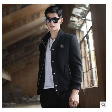 时尚商务休闲多用棒球服秋冬新款韩版青年男士毛呢夹克衫 博纳罗蒂包邮