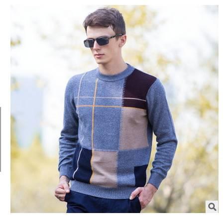 圆领保暖纯貂绒毛衣男套头羊毛打底衫秋冬季青年休闲男士貂绒衫莫菲包邮