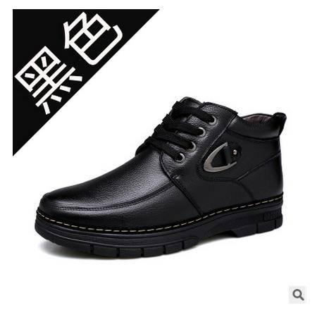 保暖男鞋鞋子真皮棉鞋冬季新品真皮雪地靴承发