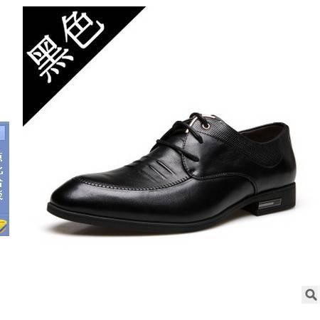 真皮男鞋婚鞋鞋子秋季新品男士正装皮鞋承发包邮