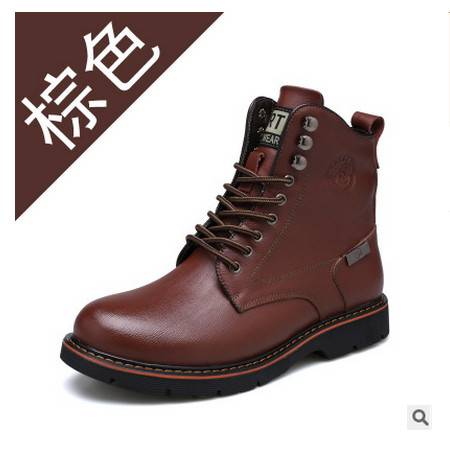 马丁靴子英伦风冬季新品皮靴男士棉靴承发包邮