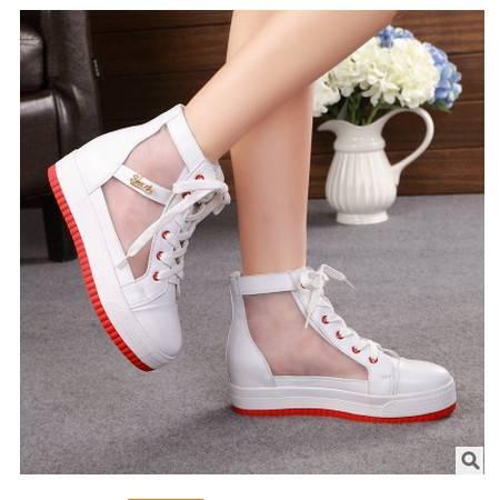 网纱糖果色彩透气增高鞋秋季新款女士韩版承发包邮