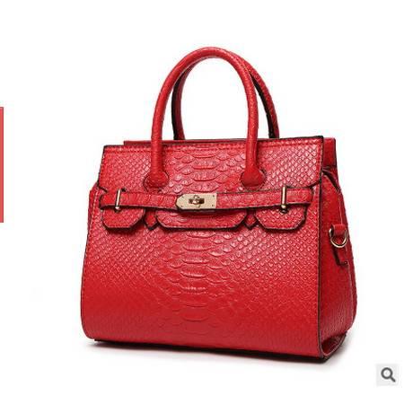 大牌手提包中包欧美鳄鱼纹铂金包单肩女包新款女士包包安雅