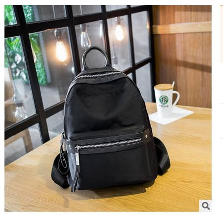 韩版纯色学院风包包新款双肩包牛津布女式旅行背包安雅