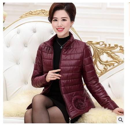 短款保暖棉衣中老年女士棉袄立领潮外套新款妈妈装轻薄小棉服艾丽莎