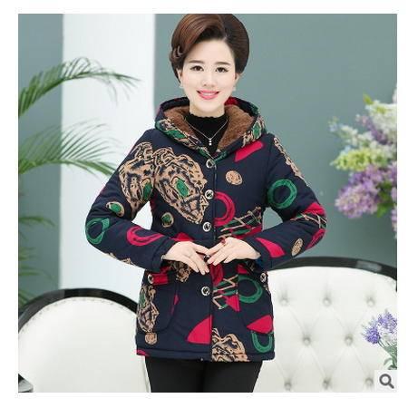 50-60-70岁老年人加厚外套妈妈装加绒棉衣冬季中老年女装冬装棉服艾丽莎