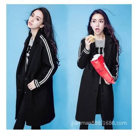 秋冬季新款大码女装毛呢外套女呢子大衣Angelababy明星同款简曼