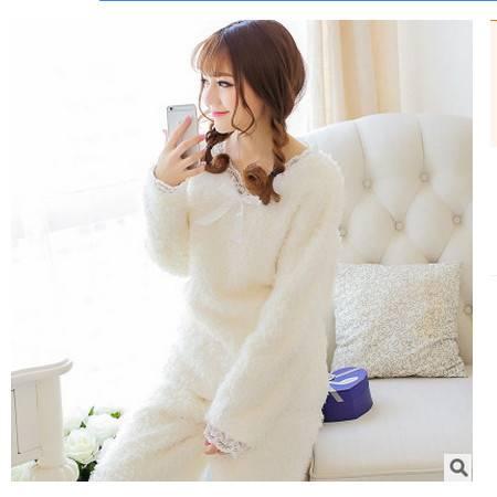 冬季加厚睡裙闺蜜装家居服女士女士可爱长毛绒睡衣套装旭宏睡衣