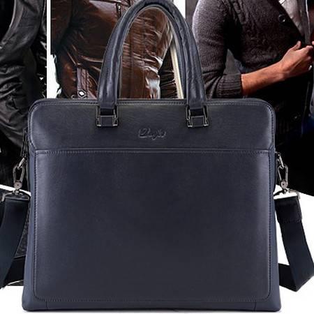 男士时尚单肩斜挎包新款真皮电脑商务手提包丹爵 包邮