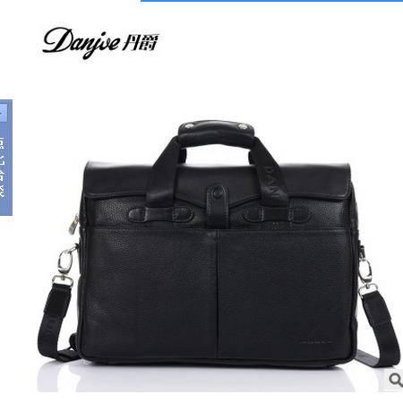 男式韩版商务潮包男包休闲电脑包横款单肩手提丹爵 包邮