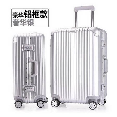 旅行箱女皮箱子登机密码箱学生铝框拉杆箱万向轮行李箱男美琪包邮