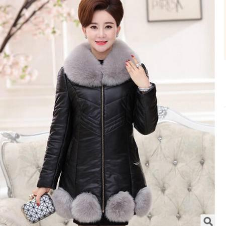年轻妈妈装冬季棉衣中老年女装冬装外套棉衣艾丽莎