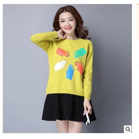 修身韩版纯色长袖圆领打底针织衫女秋冬季新款女装套头毛衣女洪合包邮