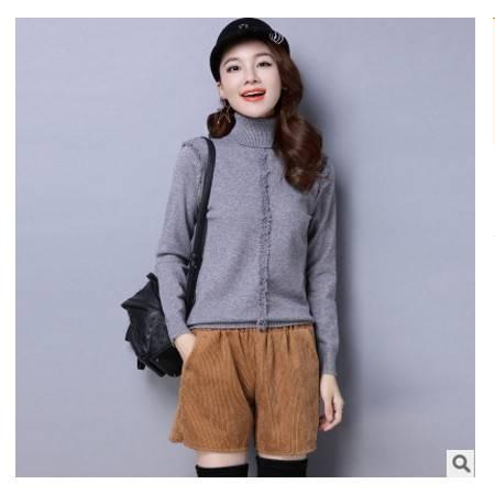 韩版修身套头毛衣打底衫秋冬新款高领长袖女式针织衫洪合包邮