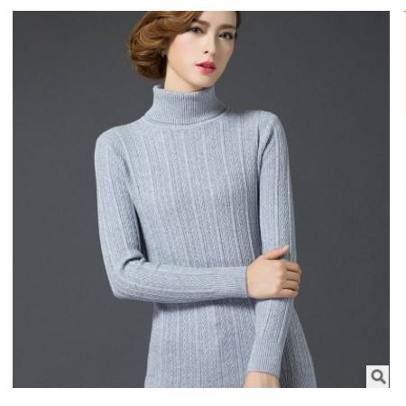 套头打底衫堆堆高领毛衣女潮秋冬新款女装韩版针织衫女洪合