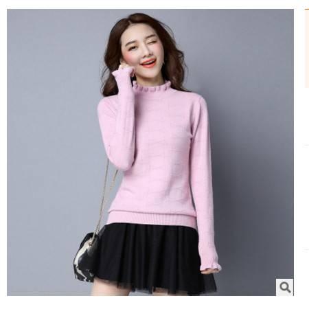 短款长袖毛衣女打底衫秋冬新款女装韩版圆领针织衫女洪合