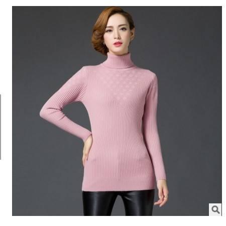 厚高领套头打底毛衣女潮秋冬新款韩版修身针织打底衫女洪合