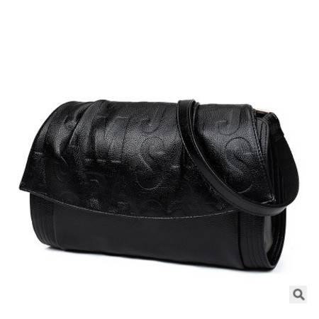 气质百搭单肩斜跨女包包欧美时尚新款压花小方包 征途