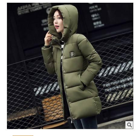 修身面包款连帽中长款棉服女大码棉衣外套冬季新款羽绒服韩版梦鼎包邮