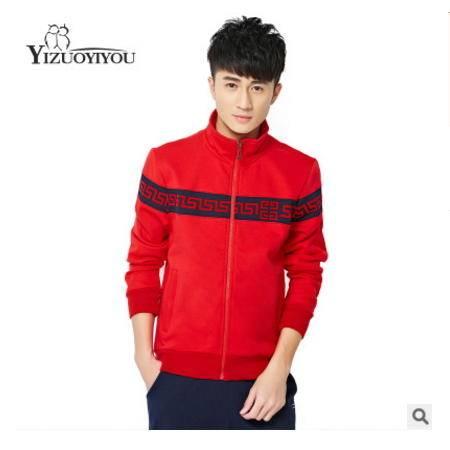 时尚韩版修身长袖两件套男士运动休闲套装冬季新款运动套装男晋龙包邮