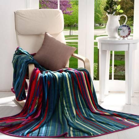 ANCHOW/安巢 AW10602 太平洋风法兰绒毯(180x200CM)