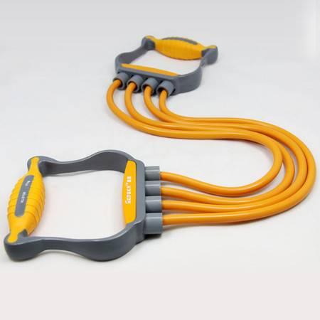 仕凯家庭健身器材四管拉力器拉力绳乳胶扩胸器 弹力绳臂力器包邮