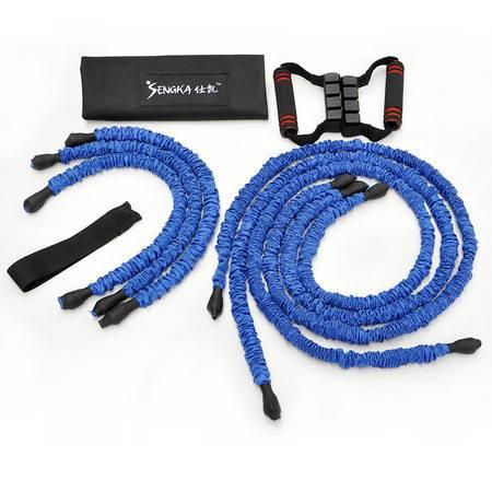 仕凯健身拉力绳 弹力绳力量训练套装 多功能拉力器材臂力健身器材