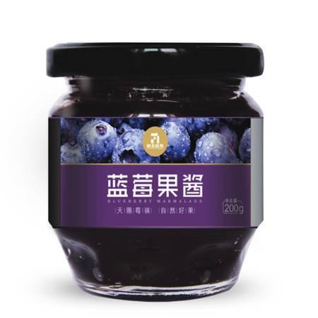 徽王 蓝莓果肉果酱 莓岭蓝莓基地 面包果酱200g