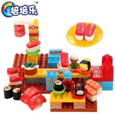 正品 培培乐全球首创DIY儿童益智玩具3D拼插积木彩泥趣味寿司亭