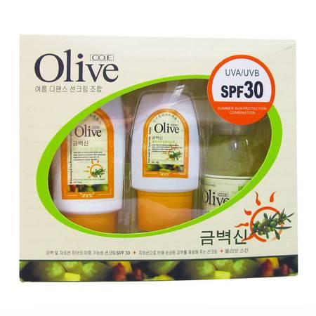 韩伊 Olive橄榄防晒套盒spf30 晒后修复保湿水防晒霜
