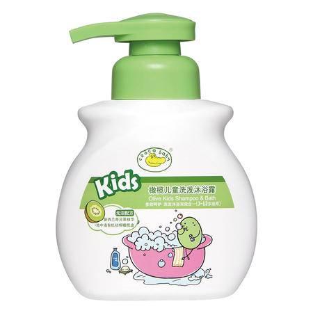 鳄鱼宝宝橄榄儿童洗发沐浴露二合一300g奇异果味婴儿宝宝洗护无泪配方