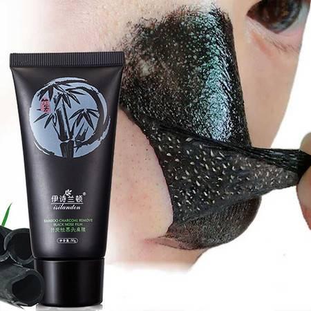 伊诗兰顿竹炭祛黑头鼻膜50gT区撕拉去粉刺灰尘污垢