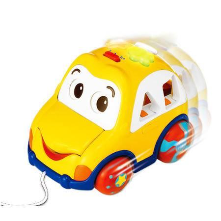 英纷 认知形状 学步玩乐 奇趣积木汽车 益智玩具