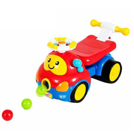 英纷玩具 多功能音乐踏行车 学步车童车可骑 滑行车喷喷乐0818