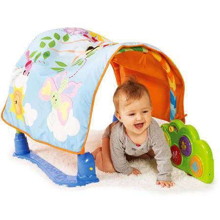 英纷音乐爬行垫 婴儿健身架脚踏琴0-1岁益智玩具宝宝多功能游戏毯DS.YF0837-NL