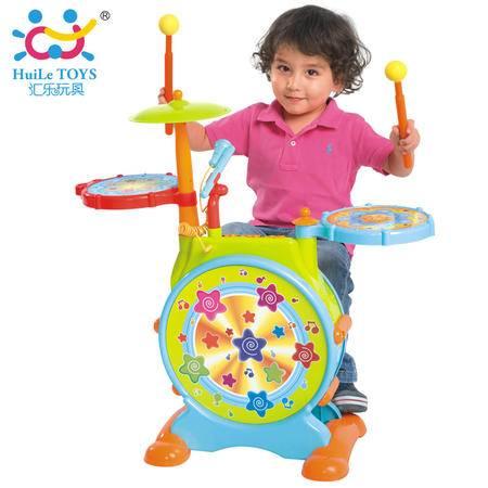 正品汇乐悦动爵士鼓大号儿童架子鼓电子鼓早教宝宝音乐器 HL.666