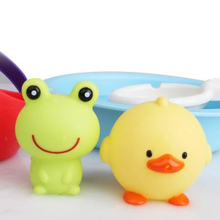 Toyroyal日本皇室儿童戏水玩水洗澡玩具组鸭子青蛙喷水动物带叫声  TR7271