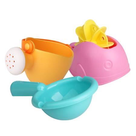 Toyroyal日本皇室儿童戏水玩水洗澡玩具组鸭子青蛙喷水动物带叫声  TR7274