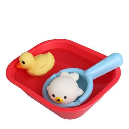 Toyroyal日本皇室儿童戏水玩水洗澡玩具组鸭子青蛙喷水动物带叫声  TR7272