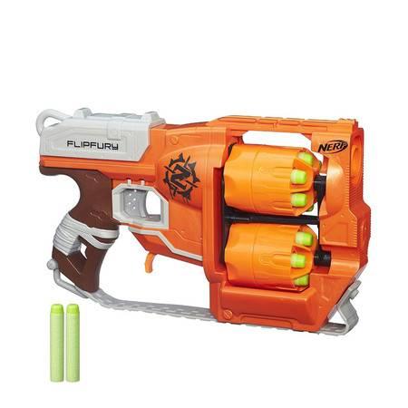 孩之宝NERF精英系列僵尸左轮软弹枪玩具逆袭发射器B0562