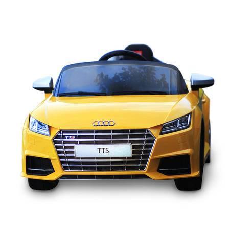 星辉Rastar 儿童敞篷车电动车汽车跑车 可坐可遥控 儿童礼物 新款奥迪TTS双电机-黄色