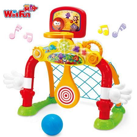 英纷多功能运动场儿童篮球架投篮亲子益智健身宝宝足球音乐玩具