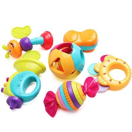 汇乐宝宝摇铃套装 新生儿婴幼儿玩具 环保安全无毒 HL.939A