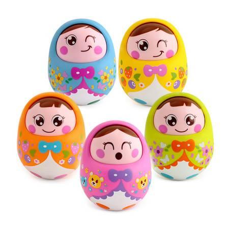 汇乐 大号不倒翁玩具 带音乐点头娃娃 宝宝益智儿童婴儿玩具0-1岁HL979