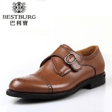 巴利宝BESTBURG新款小牛皮商务男鞋 潮流正品布洛克皮鞋英伦潮鞋