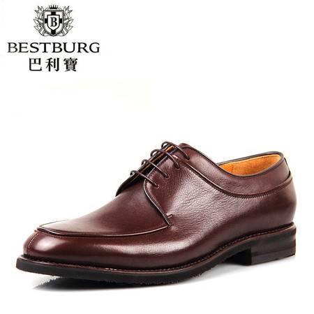 巴利宝BESTBURG春夏新款商务鞋 潮流高端男鞋 正品真皮男士皮鞋