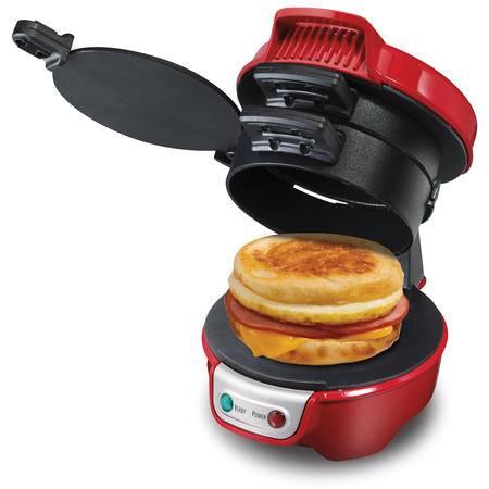 汉美驰 25475-CN家用DIY早餐机 多功能汉堡机 全自动三明治机 自制安全少油