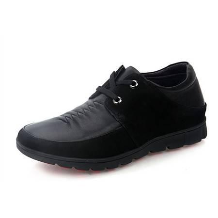 德雷克船长品牌正品 男士系带拼接英伦内增高真皮软皮休闲皮鞋7100